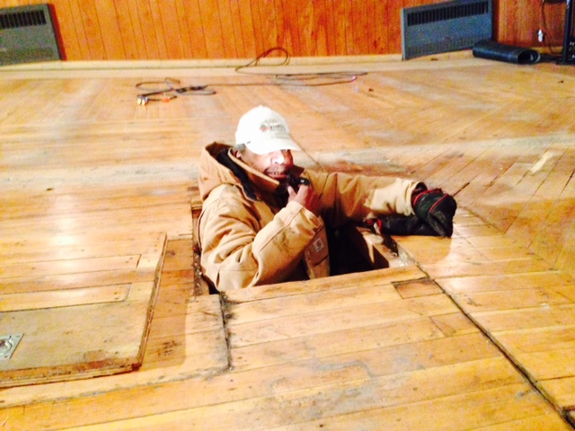 Floor renovation, Jones Theater, Westcliffe, Colorado